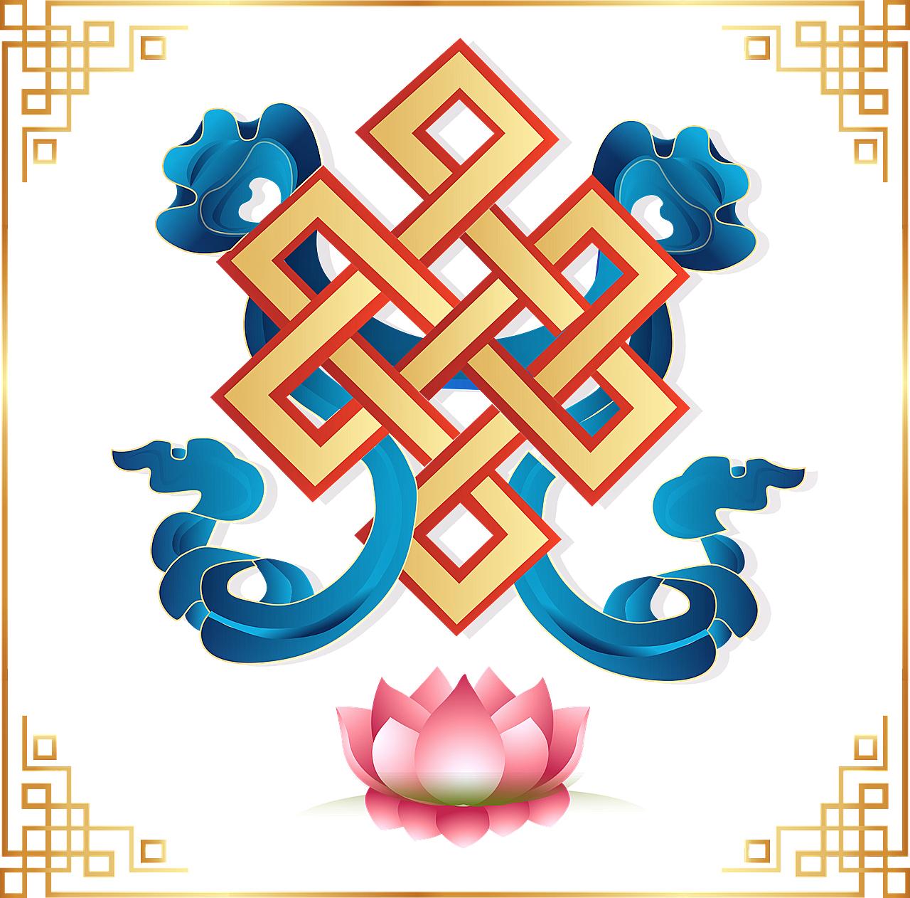 Buddhistisches Glückssymbol